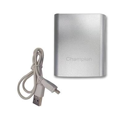 champion mcharge 4c - power bank 10400mah capacity (bis certified) - silver