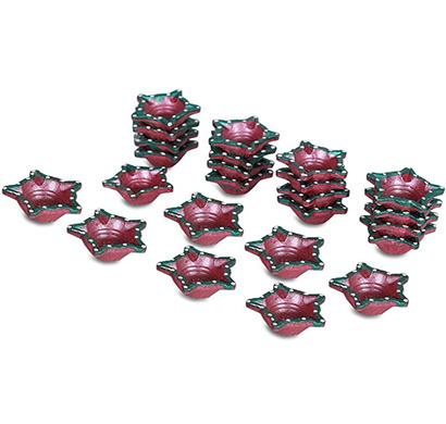 cosmosgalaxy i3778 diwali handmade terracotta diyas,set of 24