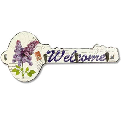 cosmosgalaxy i3344-b flower wooden key holder