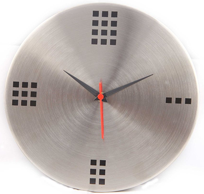 cosmosgalaxy i2843 dots designer stainless steel silver round wall clock