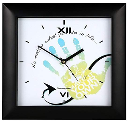 cosmosgalaxy i3228 zest designer plastic wall clock for home, black