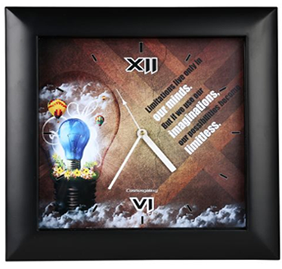 cosmosgalaxy i3230 zest designer plastic wall clock for home, black