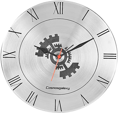 cosmosgalaxy i3460 analog 25 cm dia wall clock, shiny silver