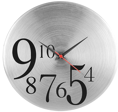 cosmosgalaxy i0167 4 to10 designer stainless steel round wall clock for home, silver