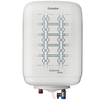 crompton- aswh1310, solarium aura,10-litre, 2000-watt storage water heater, white/ blue, 1 year warranty