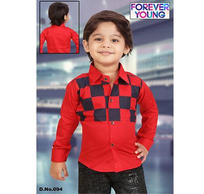 crunchy kids designer party wear checkered shirt for boys