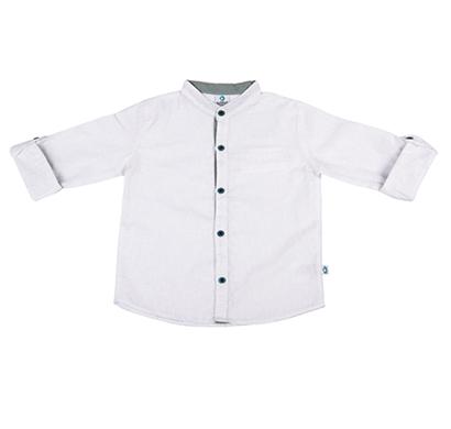 cuddledoo (cv10s119) full sleeve boy shirt collar (white)