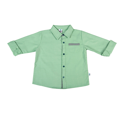 cuddledoo (cv13s119) green full sleeve boys shirt cotton collar