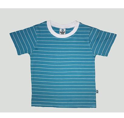 cuddledoo (cv21s119) blue & white stripes t shirt (blue)