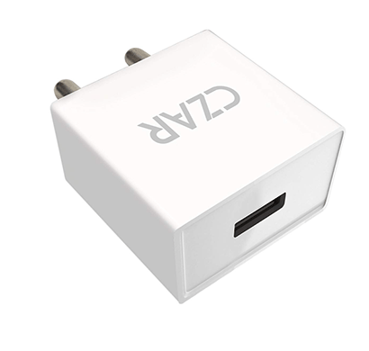 czar 2.1 amp wall charger for smartphones and tablets (white)