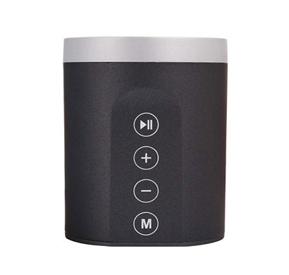 debock (daniu-7606) 3w fully touch control bluetooth speaker with fm, aux, pendrive, mmc (black)