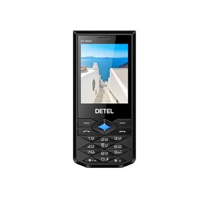 detel d1 max, 2.8 inch display, camera,dual sim (black)