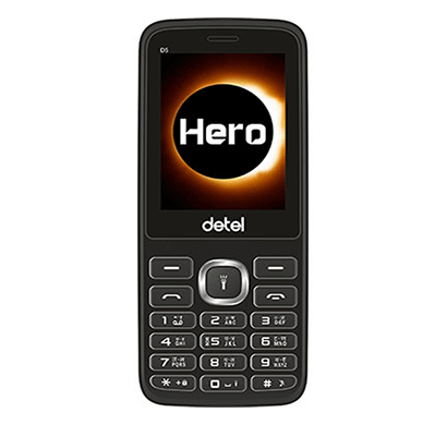 detel (d50) 2.4 inch display (black)