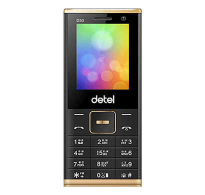 detel (d30) 2.4 inch display (black)