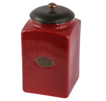 dileep dppl-03 ceramic canister red