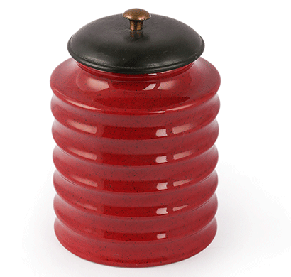 dileep dppl-04 ceramic canister red