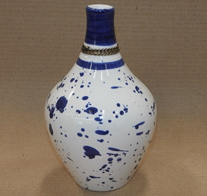 dileep 1068icp ceramic vase white/ blue