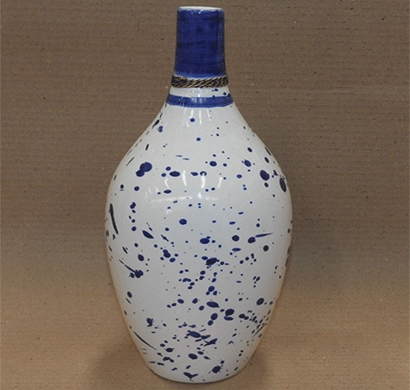 dileep 1071icp ceramic vase white/ blue