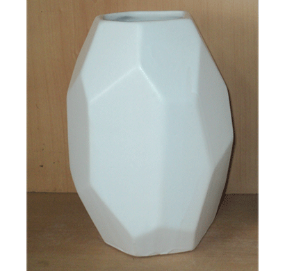 dileep 4098dcd ceramic vase white