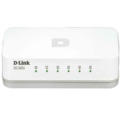 d-link des-1005a 5-port 10/100 switch (white)