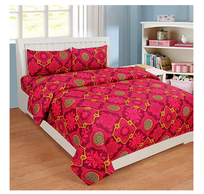 dream aura (b07yxskh1b) victorian summer dream, 100% polyester double bedsheet with 2 pillow covers, da090 (multi)
