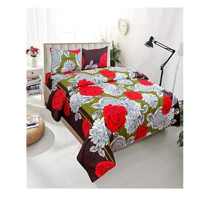 dream aura (b07yxs8w5b) victorian summer dream, 100% polyester double bedsheet with 2 pillow covers, da087 (multi)