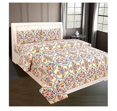 dream aura (b07z3g6t6f) victorian summer dream, 100% polyester double bedsheet with 2 pillow covers, da002 (multi)