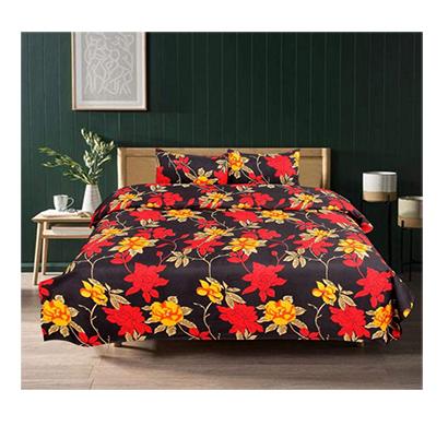 dream aura (b07z3fz247) victorian summer dream, 100% polyester double bedsheet with 2 pillow covers, da015 (multi)