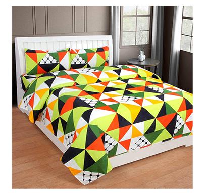 dream aura (b07yxnnc8g) victorian summer dream, 100% polyester double bedsheet with 2 pillow covers, da021 (multi)
