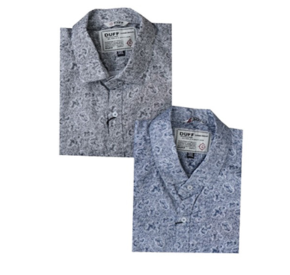 duff (1607) men 100% cotton casual printed shirts ( multicolor)