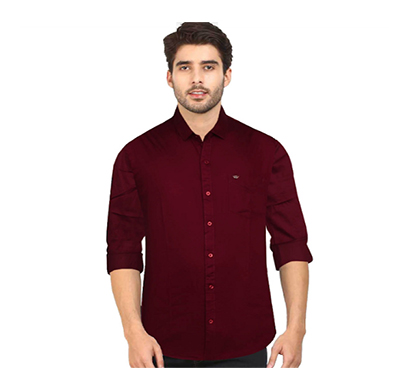 duff (1670) men 100% cotton casual shirt solid (multicolor)