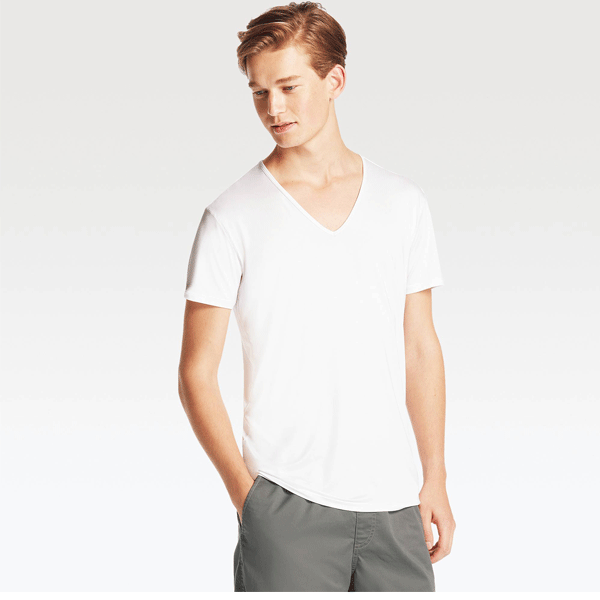 Ditto V Neck Plain T-shirt 710V05