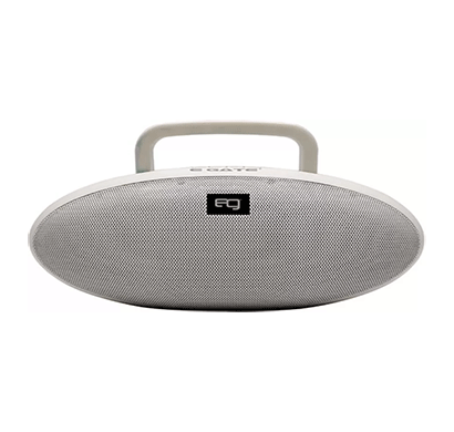 egate 402 rugby design portable bluetooth high bass loud speaker/10w (white)