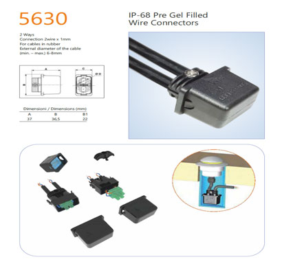 encapsuled 5630 pre gel filled wire connector