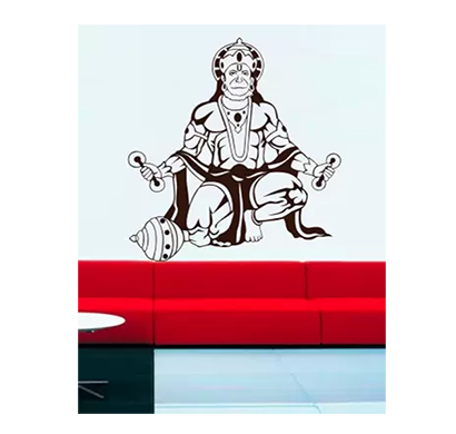 enormous kart hanuman ji on wall medium spritual sticker (pack of 1)