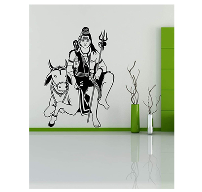 enormous kart on wall bhagwan shiv wall decal