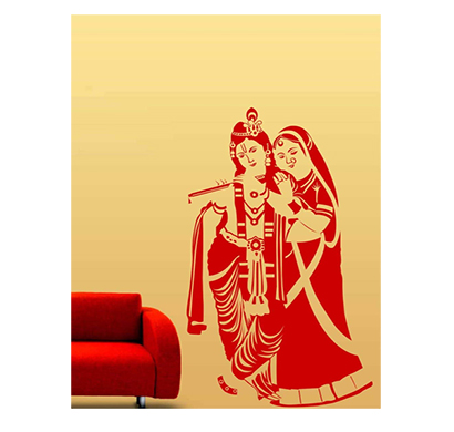 enormous kart radha krishna on wall decals (60 cm x 102 cm)