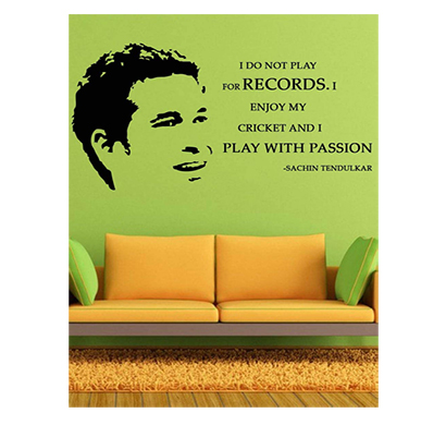 enormous kart on wall sachin tendulkar wall decal, (119 cm x 60 cm)