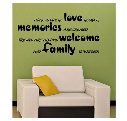 enormous kart on wall black pvc love memories wall sticker