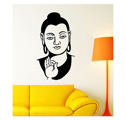 enormous kart on wall budha wall sticker black