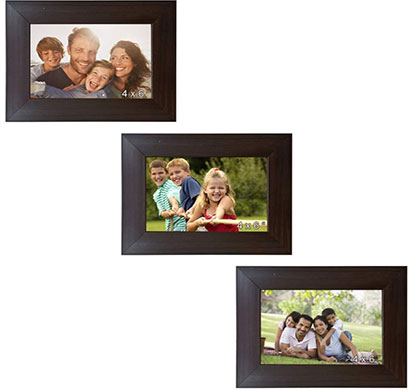 enormous kart on wall wood memory wall classic individual photo frames set of 3