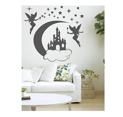 enormous kart on wall matte castle fairy wall sticker