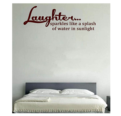 enormous kart on wall brown pvc laughter wall sticker