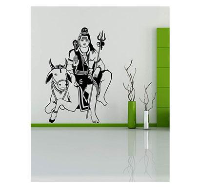 enormous kart on bhagwan shiv wall decal, (60 cm x 91 cm)