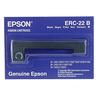 epson- c43s015358, erc-22, original black posc ribbon