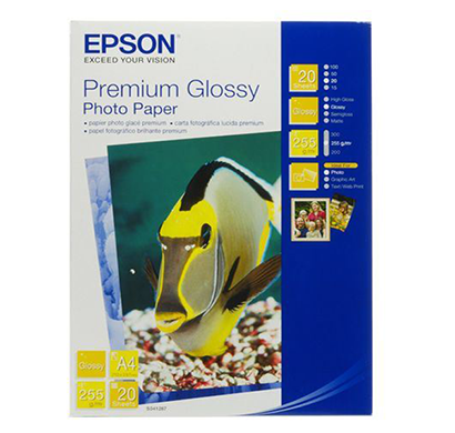epson- c13s041287, premium glossy, a4 photo paper, 1 year warranty