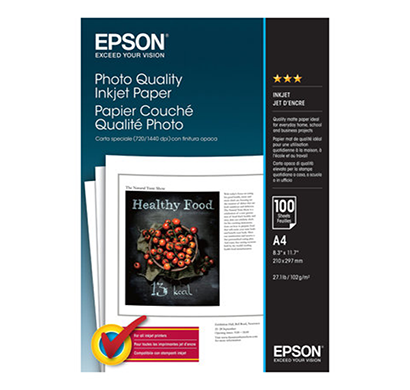epson- c13s041061, super fine a4 photo paper, 1year warranty