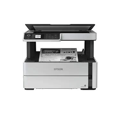 epson m2140 ecotank monochrome all-in-one duplex ink tank printer (white)