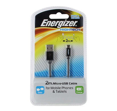 energizer hightech usb cable data + charge  for iphone 5 - 1m - black