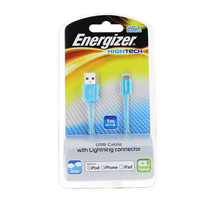 energizer hightech usb cable data + charge for iphone 5 - 1m - blue